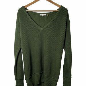Minnie Rose Army Green Rib Knitted Sweater